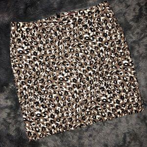 Merona Leopard Print Pencil Skirt - Size 14
